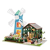Bobbbiio DIY Puppenhaus Selbstmontage Holz Hangefertigt, Mini-Set, Zimmer Im Duplex-Stil Und...