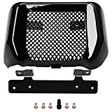 H-Ruo Oil Cooler Cover Motorcycle Cooling Cover Kit with Bracket for Harley Road King FLHR FLHRC Street Glide FLHX FLHXS 2017-2020 (Black)