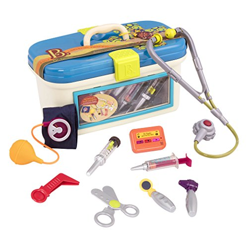 B. toys by Battat B. Dr. Doctor Toy – Deluxe Medical Kit for Toddlers - Pretend Play Set for Kids (10 pieces)