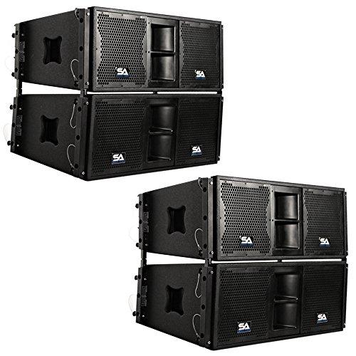 Seismic Audio - SALA-210-PKG1 - Four Passive 2x10 Line Array Speakers...