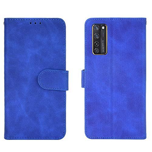 Jierich für ZTE Axon 20 5G/4G Hülle,Premium Leder Flip Wallet Schutzhülle,mit Kartensteckplätze Standfunktion & Magnetisch PU Tasche Schutzhülle passt für ZTE Axon 20 5G/4G-Blau