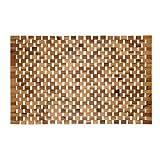 PANA eco Badematte Holz • Fußmatte 100% Akazienholz • Badvorleger Holz rutschfest • Holzmatte aus Echtholz • Größe: 40 x 60 cm