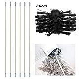 Chimney Sweep Brush Spazzamento Drain Rod Set Kit Include 6 Flessibile Rods 1 Testa della Spazzola