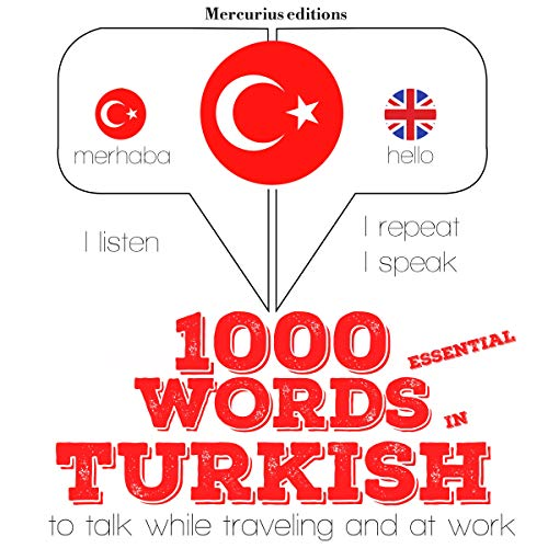 1000 essential words in Turkish audiobook cover art