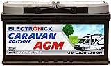 Electronicx Bateria solar AGM 12v 120ah Caravan Edition V2 Caravana Autocaravana Barcos Bateria solar