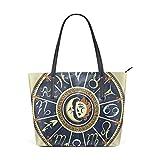 DEZIRO - Juego de bolsos de hombro para señoras con símbolo del zodiaco