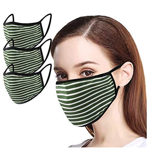 BXzhiri - Máscara de protección ajustable para adultos, lavable y cómoda, unisex, al aire última intervensión, lavable, reutilizable, transpirable, resistente al polvo ṁ ѕ...