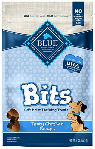 Blue Buffalo BLUE Bits Natural Soft-Moist Training Dog Treats, Chicken Recipe 9-oz bag