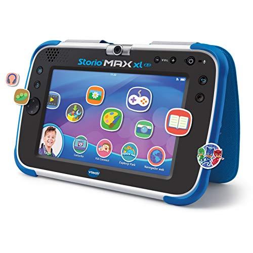 VTech - Storio Max XL 2.0, Tablet educativo multifunción 7', especialmente diseñado para niños, cámara 180º para fotos y selfies, vídeos, juegos, cine, historias, color azul, versión ESP (80-194622)