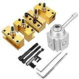 ZLININ Herramienta de cambio rápido Post Holder Kit Set de barra de mandrinar torneado herramienta titular para mini torno CNC multifunción