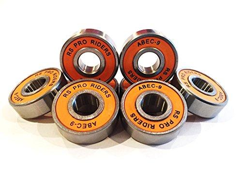 8x arancione ABEC 9608(8x 22x 7mm) RS Pro Riders cuscinetti skate skateboard scooter