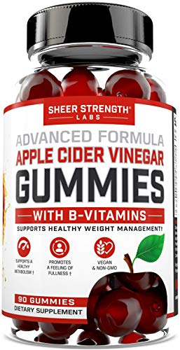 Organic Apple Cider Vinegar Gummies - B Vitamins for Daily Metabolism Support, Cleanse, and Energy for Women & Men - Keto ACV Gummies with Mother - Vegan + Non GMO - Sheer Strength by Sheer Strength
