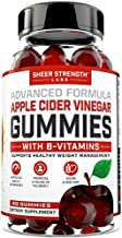 Organic Apple Cider Vinegar Gummies - B Vitamins for Daily Metabolism Support, Cleanse, and Energy for Women & Men - Keto ACV Gummies with Mother - Vegan + Non GMO - Sheer Strength