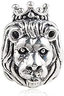 Lion Charm 925 Sterling Silver Beads fit Fashion Charms Bracelets Lion Charm 925 Sterling Silver Beads fit Fashion Charms Bracelets (crown lion)