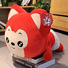 PUNIDAMAN 38Cm/58Cm Lovely Ali Fox Plush Toy Soft Cotton Foxes Stuffed Animals Doll Bed Pillow Cushion Children&Girlfriend Birthday Gift U Must Have 8 Year Old Girl Gifts Toddler Favourite