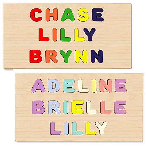 Wooden Personalized Name Puzzles 3 Name...