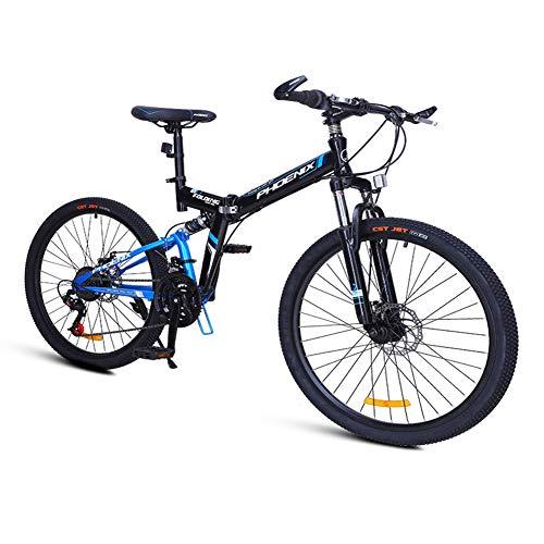 Nengge Mountainbike, 24 versnellingen, inklapbaar, frame van staal, hoog gehalte van carbon, fiets MTB, meisjes, volwassenen, mannen, vrouwen, kinderen, dubbele vering