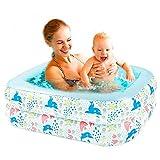 FreshWater Niños Paddling Piscina de dos capas para niños Baby Shower Estallar familia Piscina cuadrada inflable piscina bebé piscina al aire libre juegos de agua 110 cm