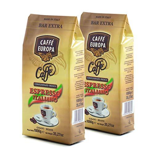 Caffè Europa - Caffè in Grani Tostatura Artigianale, Miscela Espresso Bar Extra (2x1kg)