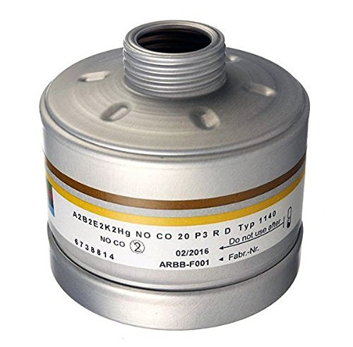 Dräger X-plore Kombinationsfilter 1140 A2B2E2K2 Hg NOCO20 P3 RD für Gas und Partikel (EN 14387) Qualitätsfilter für Masken mit Rundgewinde RD40 (EN 148-1)