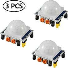 Aoicrie 3Pcs HC-SR501 Adjustable IR Pyroelectric Infrared PIR Motion Sensor Detector PID Modules for Arduino & Raspberry Pi Projects