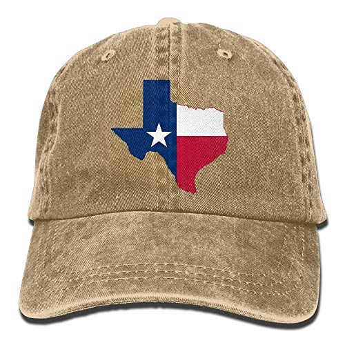 IMERIOi Hemd Männer Frauen Texas Flag Map Verstellbare Baumwolle Denim Baseball Cap Hat