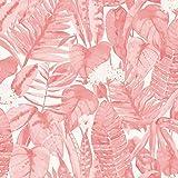 Tempaper TR10631 Tropical Removable Peel and Stick Wallpaper, 28 sq. ft, Pink Lemonade