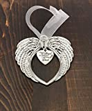 Angel Wing Heart Focal,'I Have An Angel In Heaven, I Call Him Dad' Charm Ornament, Memorial Remembrance Lost Loved Ones Ornament Keepsake Gift
