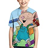 If You Give A Mouse A Cookie Children Sports Short Sleeve Anime Cartoon T-Shirts 3D Print Boys Fashion T-Shirts Black
