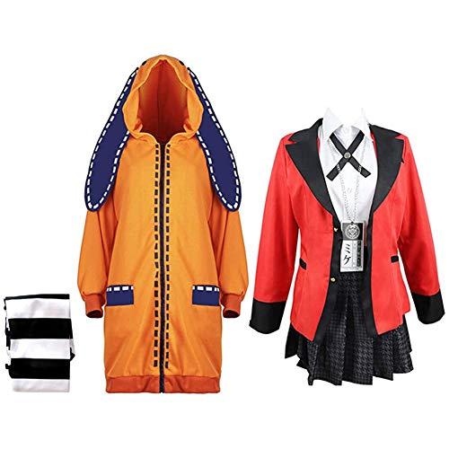 DDDD store Kakegurui Jabami Yumeko Disfraces Yomoduki Runa Naranja Conejo Abrigo Largo...