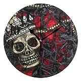 Classic Devil Spider Sugar Skull Round Orologio da Parete Orologio da Polso al Quarzo a Batteria Senza ticchettio