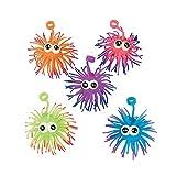 Fun Express - Two Tone Urchin Ball Yo Yo with Eyes - Toys - Balls - Porcupine & Noodle Balls - 12 Pieces