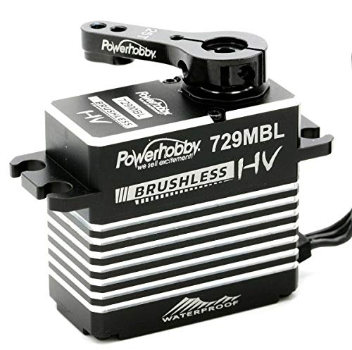 Powerhobby 729MBL Hige Voltage Waterproof Brushless Steel Gear High Torque 565 OZ/Speed .085 @ 8.4v Servo with Aluminum Case