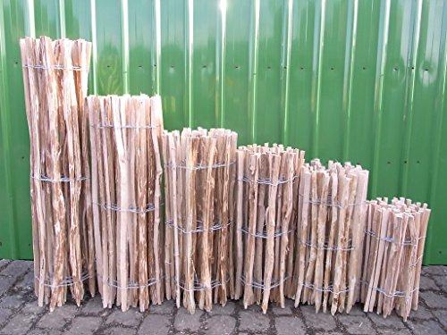 Staketenzaun Haselnuss in 12 verschiedenen Größen 5 m (500 cm) (80 x 500 cm (Lattenabstand: 7-9 cm))