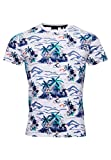 Superdry Supply tee Camisa, Blanco (Ice Marl AOP Cg8), L para Hombre