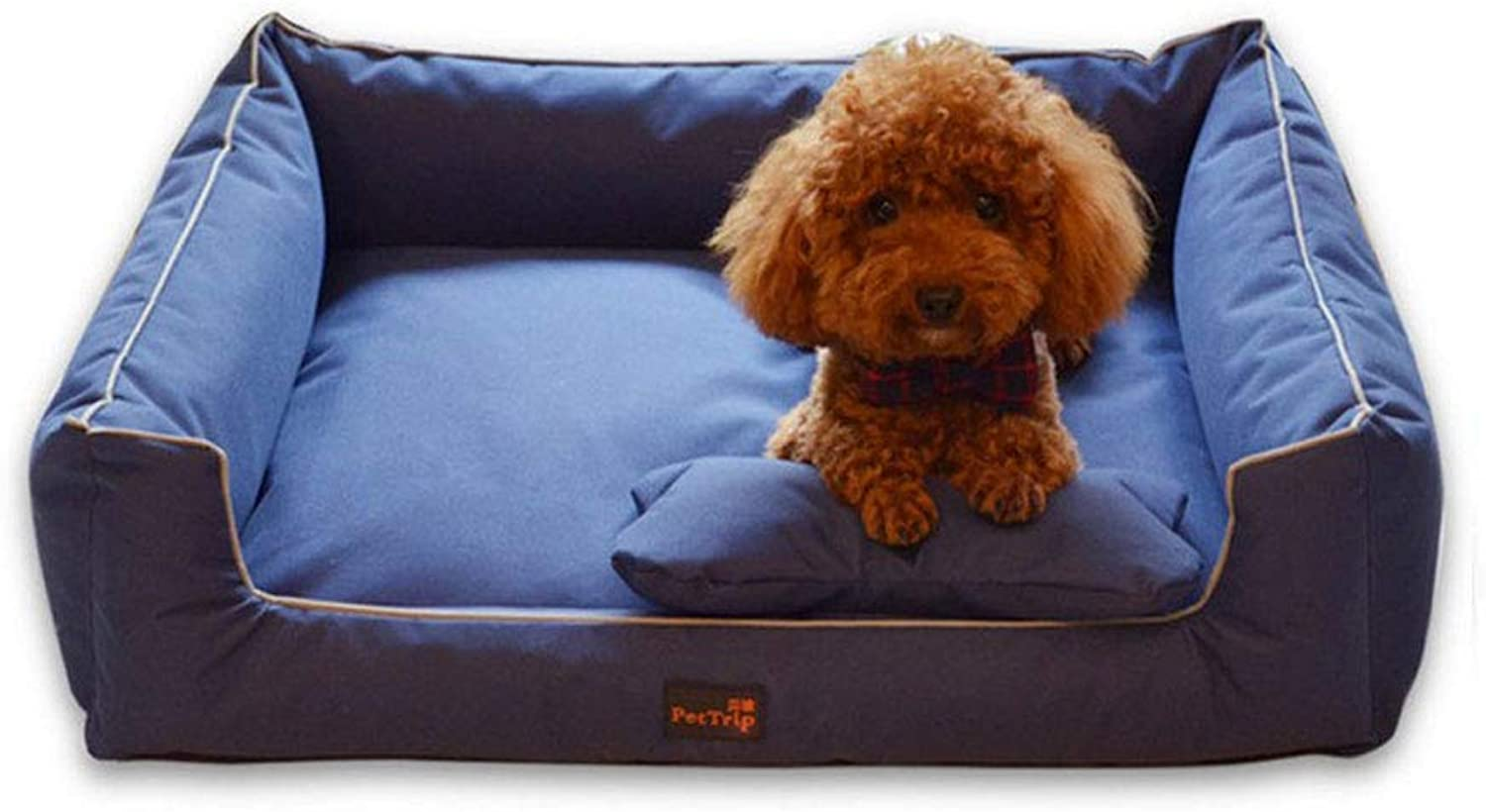 JM Pet Sofa Bed  Dog, Cat Or Puppy Memory Foam Mattress Comfortable Couch For Pets With Removable Washable Cover (color   C, Size   Xl)