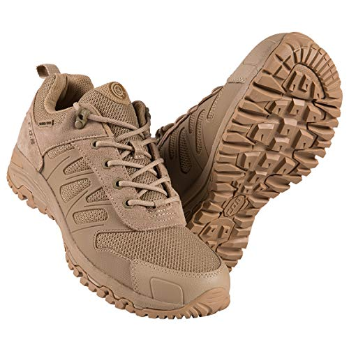 FREE SOLDIER Zapatillas Trekking Hombre Zapatillas Senderismo Tacticas al Aire Libre Zapatos Militares de Montañismo(Color Arena,46)