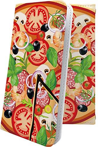 スマートフォンケース・GRANBEAT DP-CMX1(B)・互換 スマートフォンケース・手帳型 女の子 女子 女性 レディース 食べ物 ピザ グランビート オンキョー オンキョウ ユニーク おもしろ おもしろスマートフォンケース・dpcmx1 dp-cmx1 cmx1 たべもの フード [k1c97944Ytx]