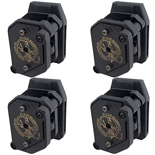 Fantastic Prices! Black Scorpion Gear Competition Magazine Pouches for Double Stack Magazines 9 mm.40-1 1/2 in Belt IPSC, USPSA Approved 4 pcs