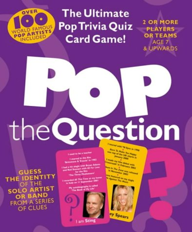 Music Games: Pop The Question Quiz