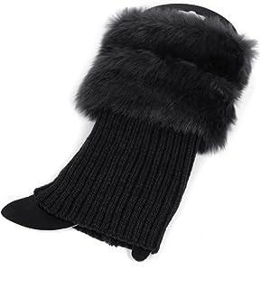 VIccoo, VIccoo Calcetines, Calentador de Pierna de Invierno de Ganchillo cálido para Mujer Calentadores de Pierna Cuffs Toppers Boot - Negro