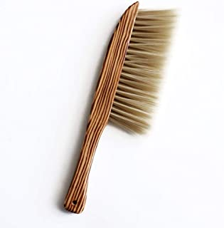 Hand Broom, BEST HOUSE Natural Wooden Soft Brush Dusting Brush Bedroom Broom Sofa Seat Cleaning Brush Anti-static Cleaning...