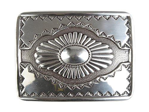 Veri Indianer Buckle natives Gürtelschnalle indianische Muster Gürtelschließe Geschenk Idee Indianistik Schmuck Schliesse 8,5 x 6,5 cm für 4 cm Gürtel Riemen :