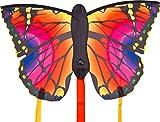 Aquilone monofilo: Butterfly Kite 'L' HQ-Invento, colore Ruby, dimensioni cm 130 x 80, avvolgicavo e cavo inclusi.