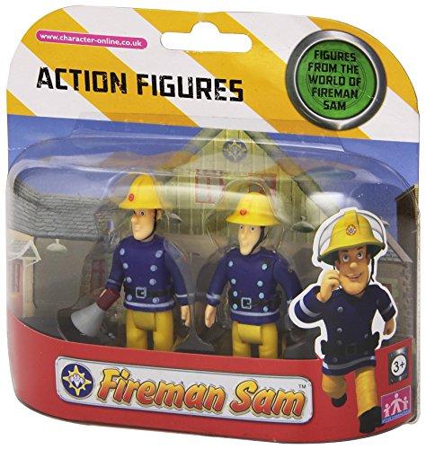 Sam Le Pompier – Pack 2 Figurines – Sam avec Mégaphone & Elvis (Import Royaume-Uni)