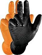 SICHERHEIT - hochelastische Schutzhandschuhe aus 100% Nitril - EN 388 / EN 374 zertifizierte Sicherheitshandschuhe sorgen für optimalen Schutz vor mechanischen & chemischen Gefährdungen HAUTFREUNDLICHE UNTERSUCHUNGSHANDSCHUHE - pulverfrei, geruchsneu...
