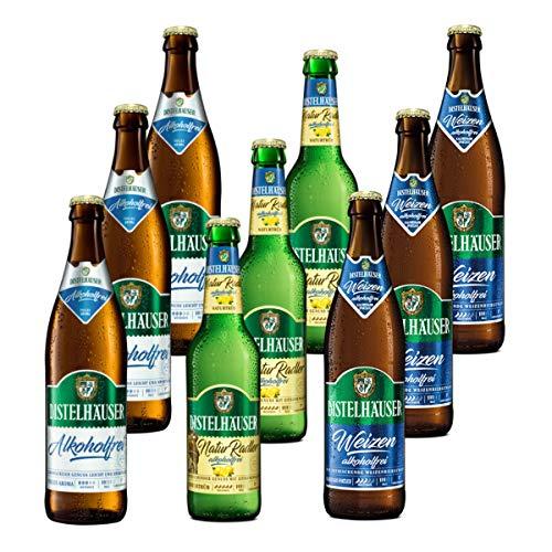 Distelhäuser Bierpaket alkoholfrei mit Pils, Radler und Weizen, 9 Flaschen
