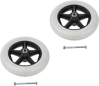 Perflan - Ruedas de repuesto para ruedas delanteras de silla de ruedas (2 unidades,