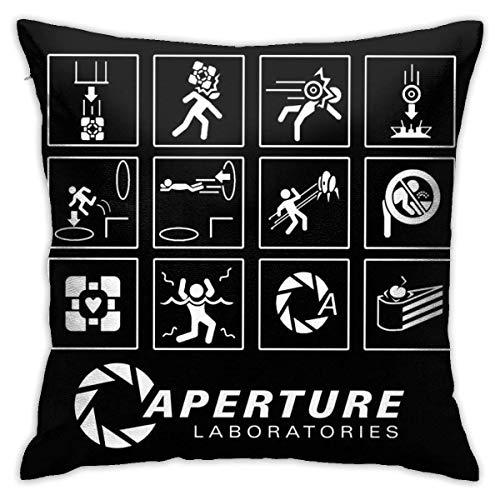 ccx Portal Video Game Cushion Throw Pillow Cover Decorative Pillow Case for Sofa Bedroom Kissenbezüge 18x18Inch(45cmx45cm)