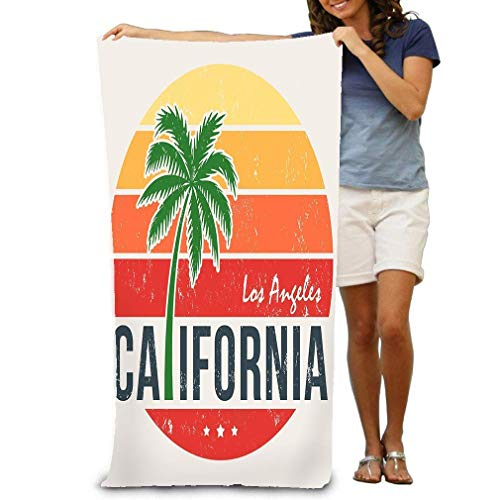 Emonye Unisex Beach Towels Bath Towels for Teen Girls Adults Travel Towel Washcloth 31x51 Inches California Print Styled Palm Tree Design Stamp Lab